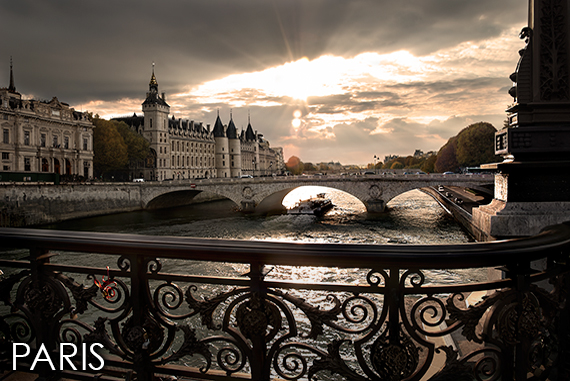 Photos of Paris link to photographic prints by Christopher Petsos